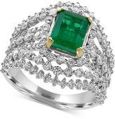 Effy Brasilica Emerald (1-3/8 ct. t.w.) and Diamond (1-5/8 ct. t.w.) Ring in 14k White Gold