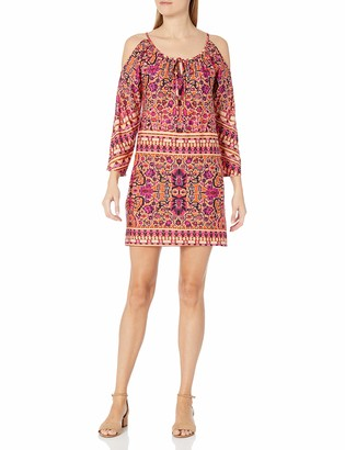 Tiana B T I A N A B. Women's Cold Shoulder Print Dress
