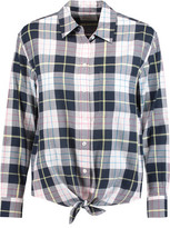 Equipment Daddy Tied Checked Cotton Shirt