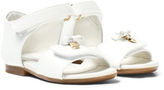 Dolce & Gabbana White Patent Sandals