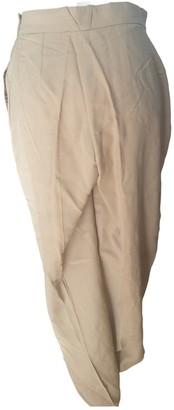 Rodier Beige Wool Trousers for Women
