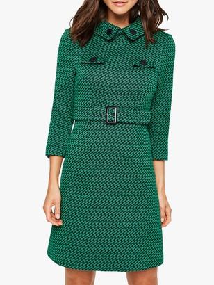 Damsel in a Dress Sabri Tweed Dress, Green/Navy