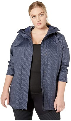 Columbia Plus Size Splash A Little II Rain Jacket (Black) Women's Coat