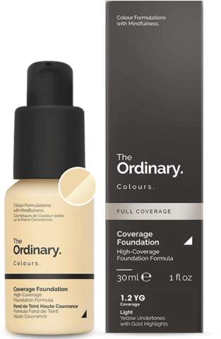 The Ordinary NEW Coverage Foundation (1.2 YG) 30ml Womens Makeup