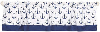 The Peanut Shell The Navy Anchor Print Tailored Window Valance Bedding