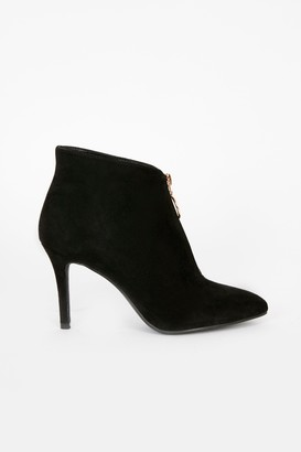 Wallis Black Front Zip Boot