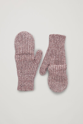 Cos Cotton Chunky Knit Mittens