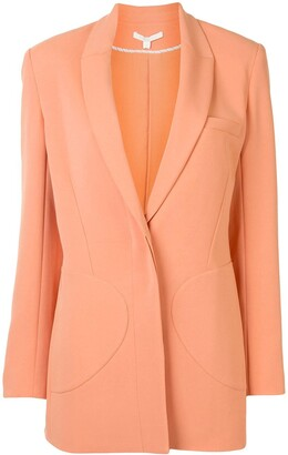 Jonathan Simkhai Stitched-Pocket Single Breasted Blazer