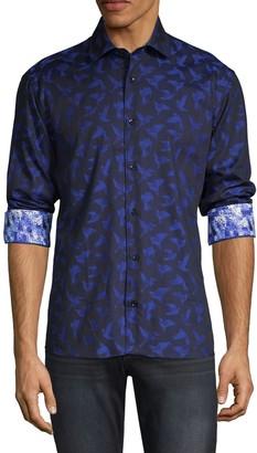 Bertigo Origami-Print Long-Sleeve Shirt