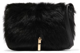 Elizabeth and James Cynnie leather and shearling shoulder bag