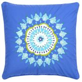 Azure Medallion Decorative Pillow