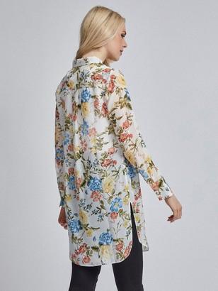 Dorothy Perkins Floral Chiffon Shirt - Ivory Lemon