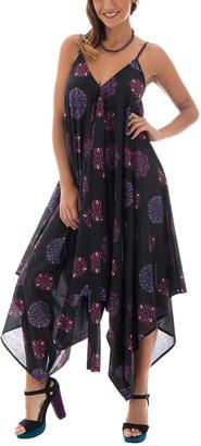 Aller Simplement Women's Jumpsuits BLACK - Black & Purple Geo-Spiral Asymmetric Jumpsuit - Plus
