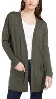 Style&Co. Style & Co Petite Open-Front Drop-Shoulder Cardigan, Created For Macy's