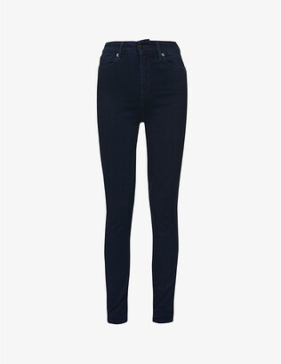 7 For All Mankind Aubrey skinny high-rise stretch-denim jeans