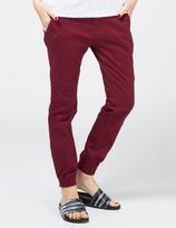 Publish Maroon Lexie Signature Over Dyed Twill Jogger Pants
