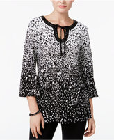 JM Collection Ombré Keyhole Tunic, Only at Macy's