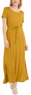 Style&Co. Style & Co Tie-Waist Maxi Dress, Created for Macy's