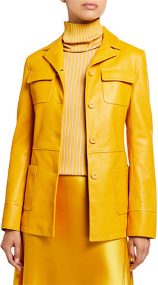 Sies Marjan Leather Collar Jacket