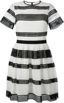 MICHAEL Michael Kors striped pleated dress - women - Cotton/Polyester - 2