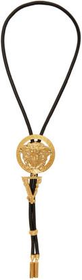 Versace Black Medusa Bolo Tie Necklace