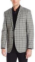 Perry Ellis Men's 2 Button Slim Fit Sport Coat, Grey