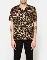 Gitman Brothers Rayon Leopard SS Camp Shirt