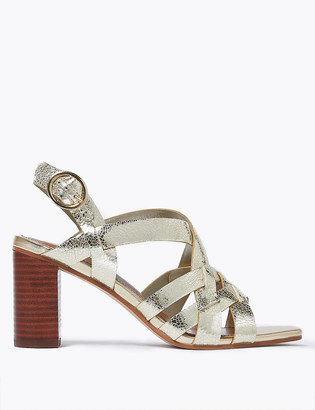 Marks and Spencer Leather Weave Ankle Strap Sandals
