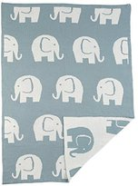 Mud Pie Knit Blanket, Blue Elephant by