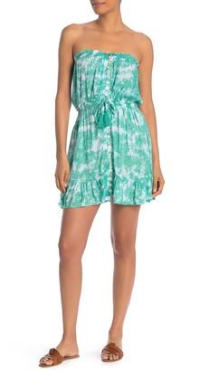 Tiare Hawaii Strapless Tie Dye Mini Dress