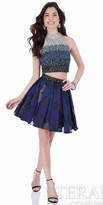 Terani Couture Tri-Color Two Piece Homecoming Dress