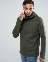 Nike Tech Fleece Pullover Hoodie In Green 832116-331