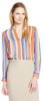 Anne Klein Women's Cabana Stripe Blouse