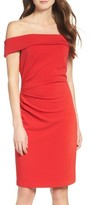 Vince Camuto Women's Off The Shoulder Crepe Sheath Dress