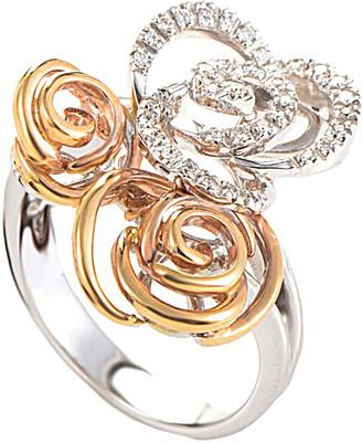Damiani Certified 18K Two-Tone 0.20 Ct. Tw. Diamond Ring