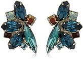 "Sorrelli Blue Brocade"" Fanned Navette Crystal Post Earring"