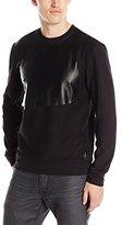 Calvin Klein Men's Long Sleeve Solid Printed Crew Neck Sweat Shirt