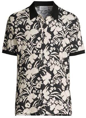 Salvatore Ferragamo Floral Polo Shirt