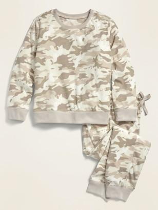 Old Navy Printed Micro Performance Fleece Pajama Set for Girls
