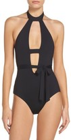 Becca Women's Socialite Belted One-Pice Swimsuit