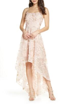 Xscape Evenings 3D Floral High/Low Gown