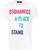 DSQUARED2 A Place to Stand print T-shirt