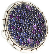 John Hardy Amethyst & Iolite Lavafire Cocktail Ring