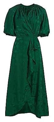 Saloni Women's Olivia Draped Silk Dress