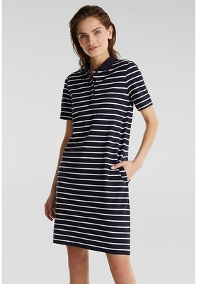 Esprit Striped Cotton Polo Dress with Short Sleeves