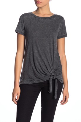 Susina Burnout Tie Hem T-Shirt (Regular & Petite)