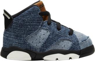 Jordan Retro 6 Basketball Shoes - Washed Denim / White