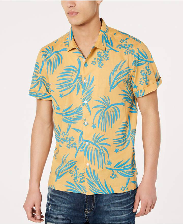 American Rag Men Palm Print Shirt