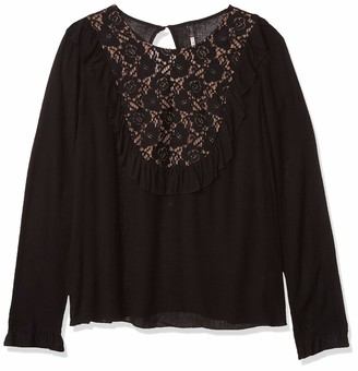Plenty by Tracy Reese Women's Long Sleeved Combo Blouse