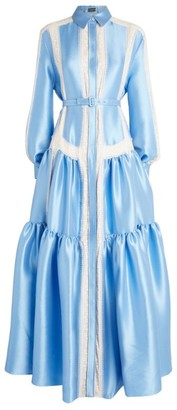 Alexis Mabille Oversized Tiered Shirt Dress